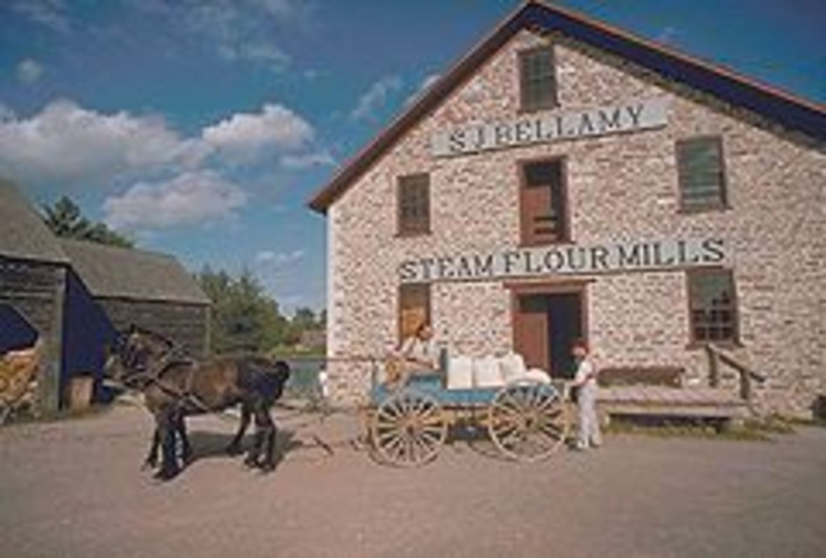 Bellamy's Steam Flour Mill, at Upper Canada Village