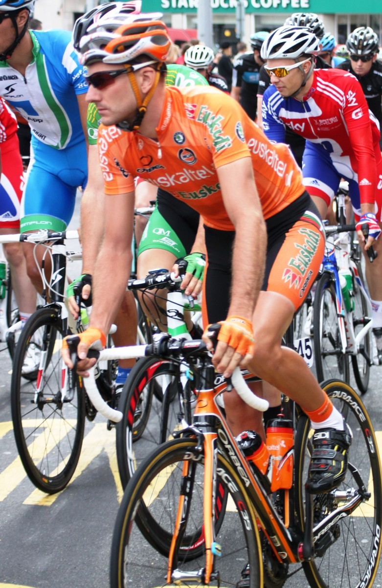 The easily spotted Euskaltel Euskadi team is one of the longest serving in cycling's professional peloton