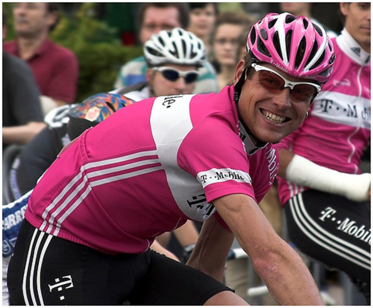 Jan Ullrich of the T Mobile team helped animate the racing and provide colour in the peloton