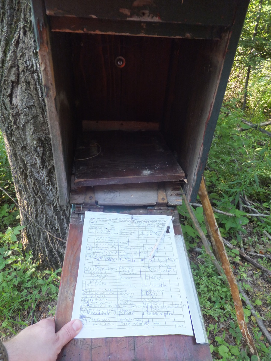 Signing in at Deerlick Preserve gives The Nature Conservancy an idea of how many people hike in this unique area.