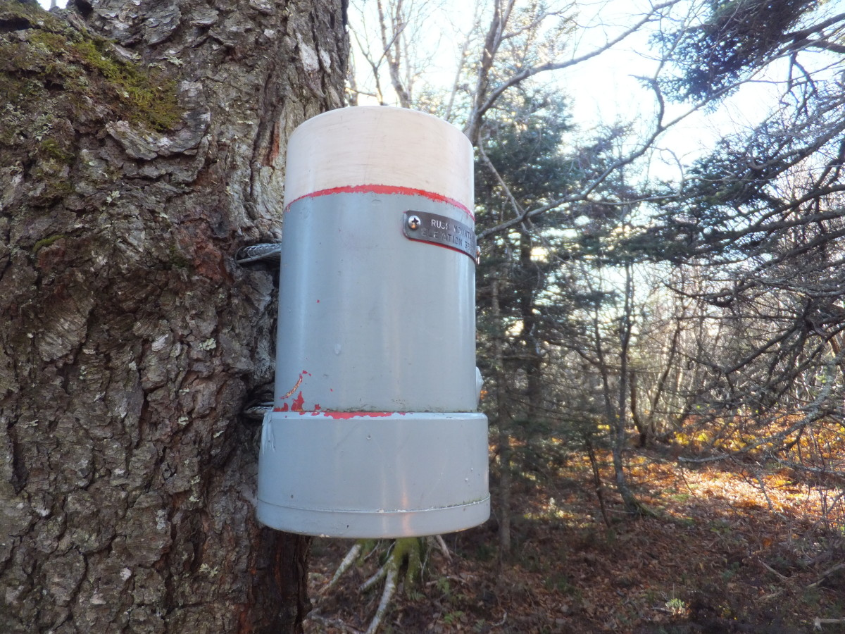 Summit capsule on Rusk Mountain in the Catskills.