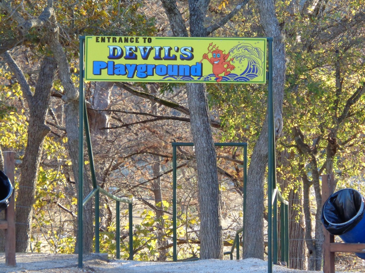 View from the Parking Area of the Entrance to the Devil's Playground
