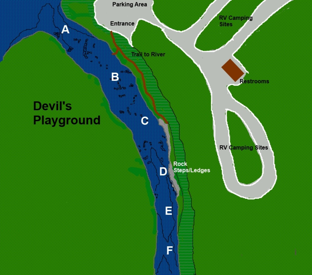 Devil's Playground - Suggested Areas to Fish
