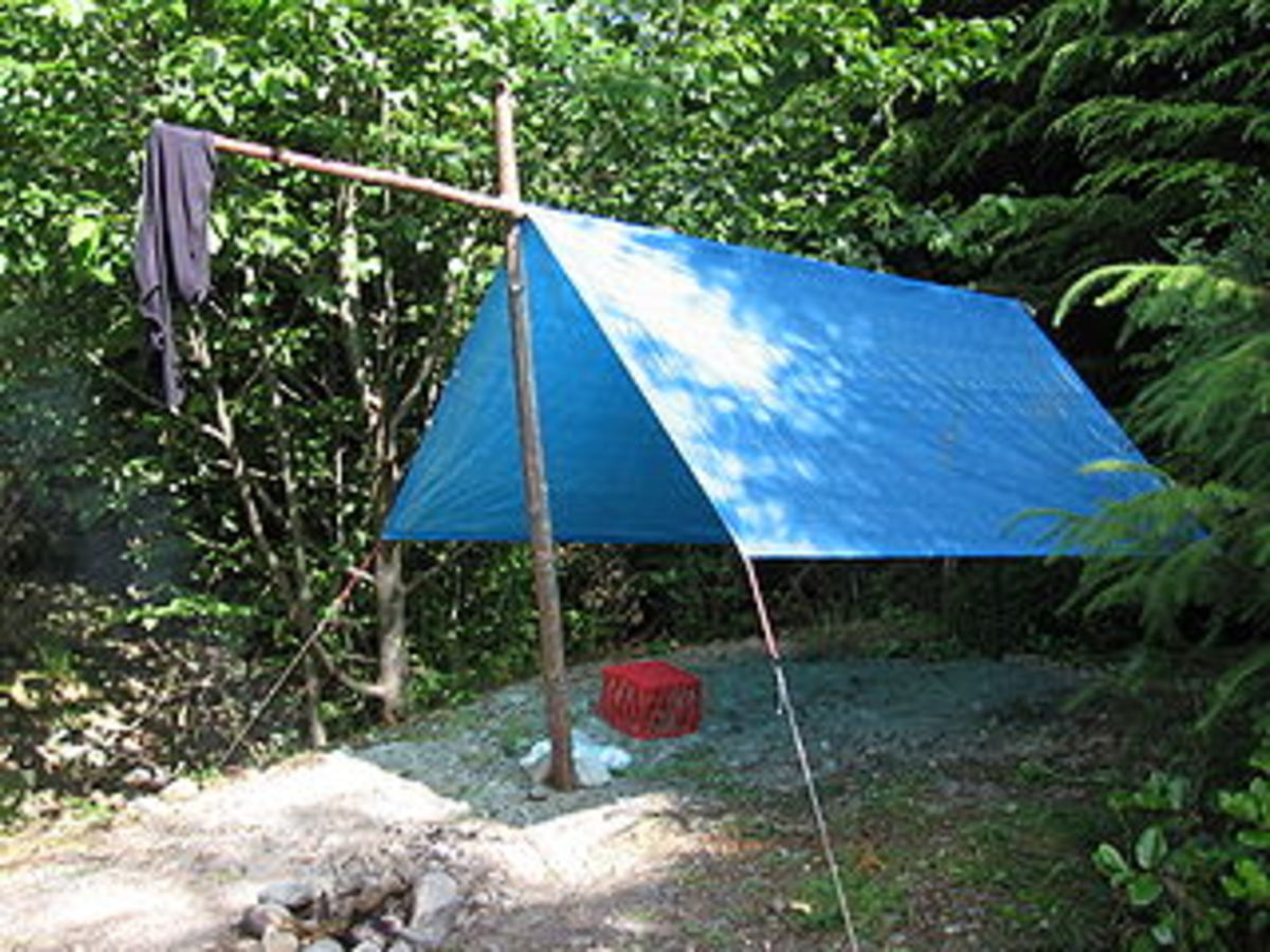 A tarp can not only provide shelter, but waterproof the floor of your tent