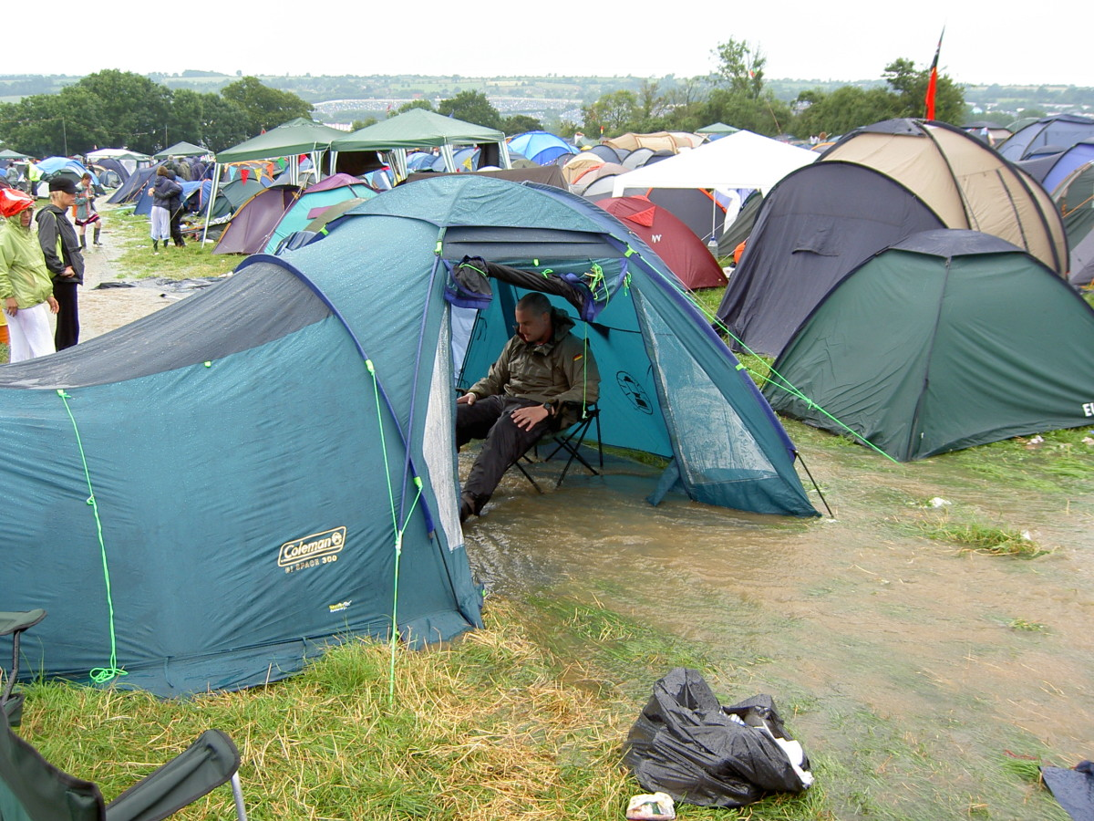 Donu0027t set up your tent in places where heavy rains could result in streams : best waterproof tents - memphite.com