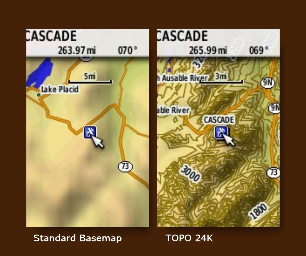Check out the detail comparison between the standard basemap and topo 24K.
