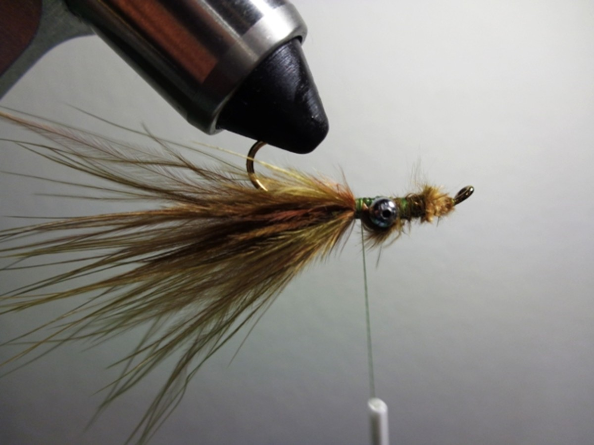 Flip the fishing fly hook up