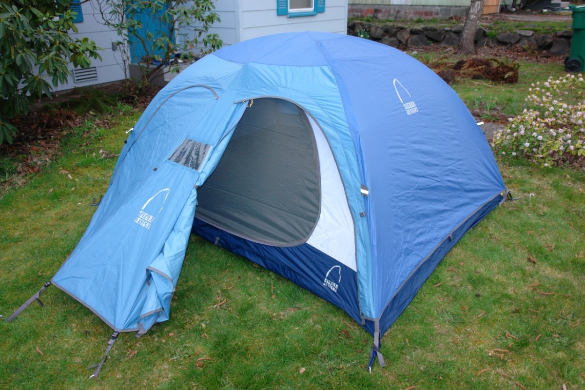 This dome tent looks like a great choice for camping at a state park or in the back yard.