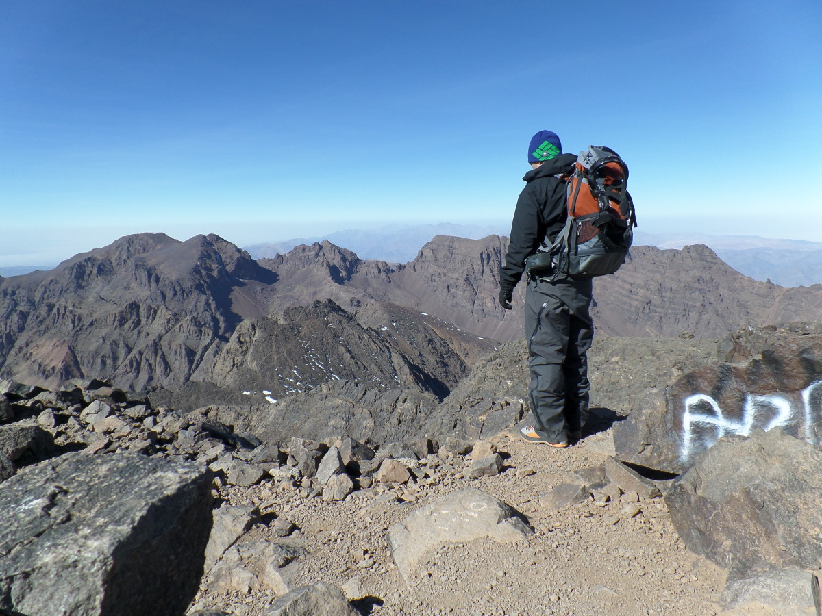 Kurt Morrison at the summit of Toubkal