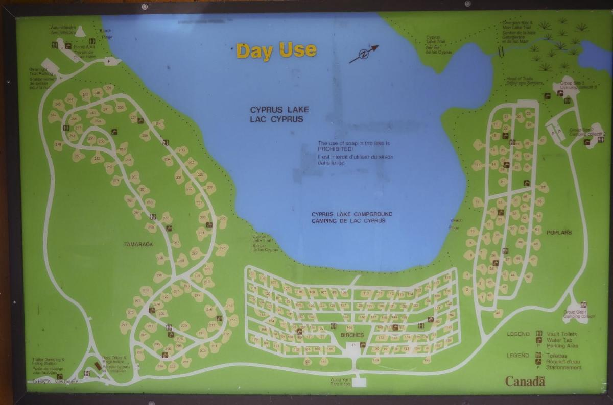 Cyprus Lake Campground Map