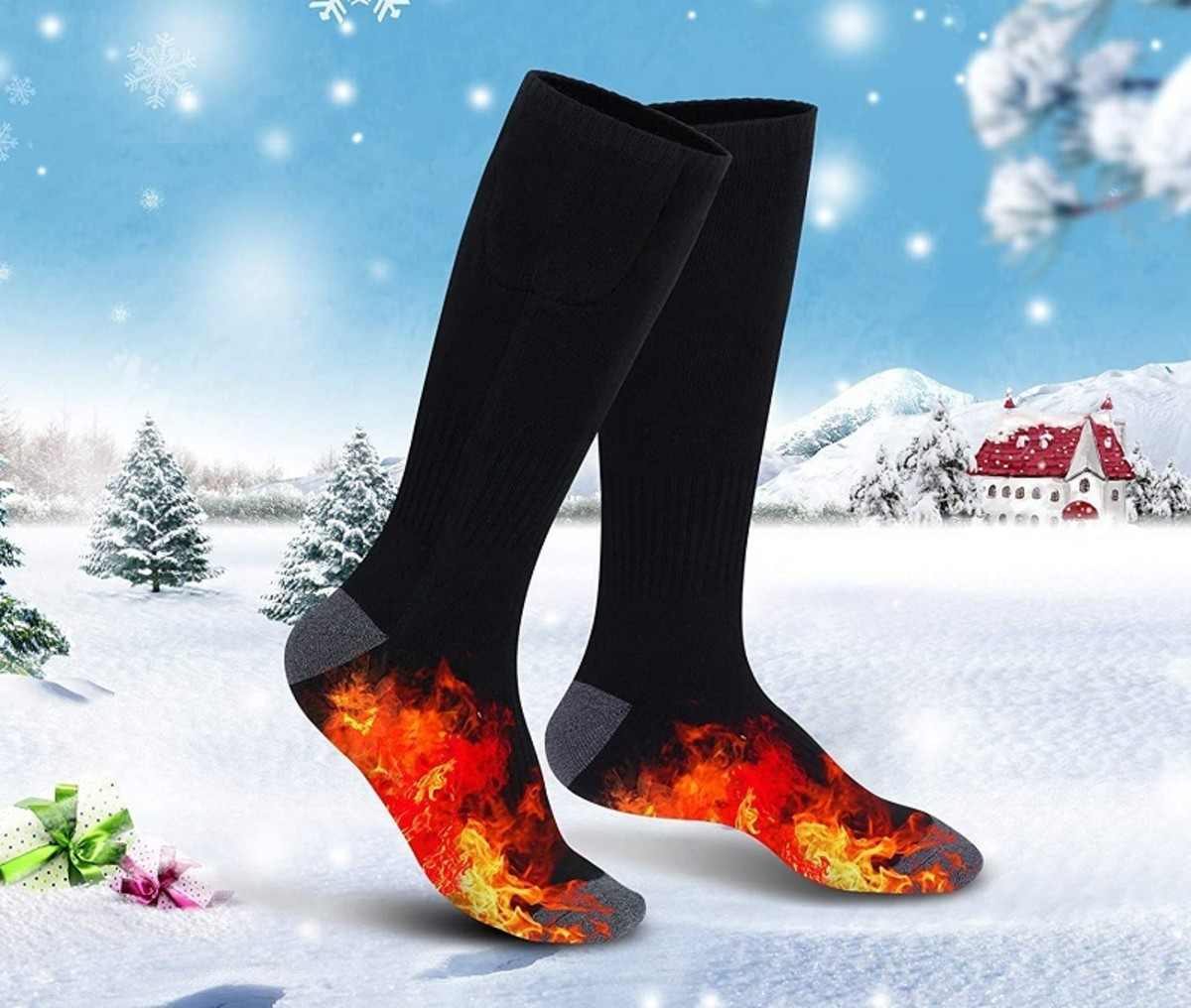 Rechargeable, heated socks make a great Christmas gift.