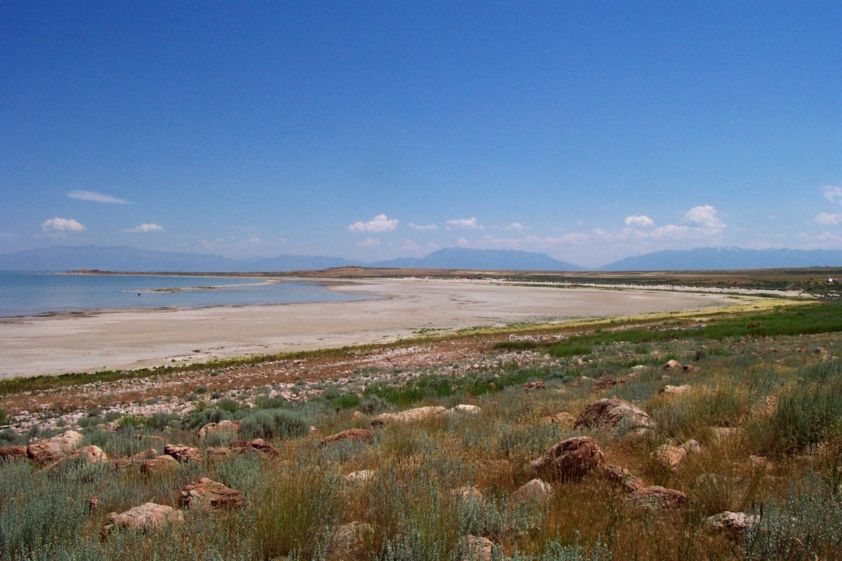 Beach on Antelope Island