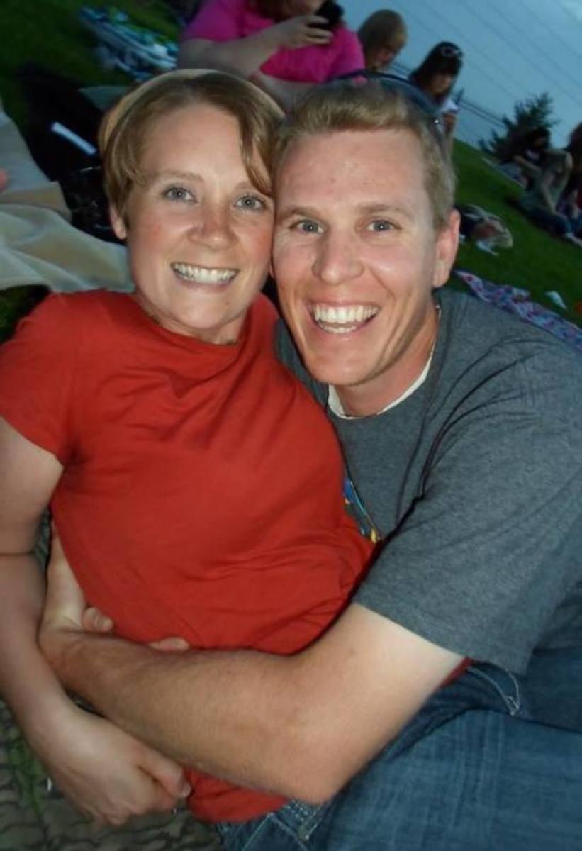 Enjoying a beautiful night at the Sandy Amphitheater