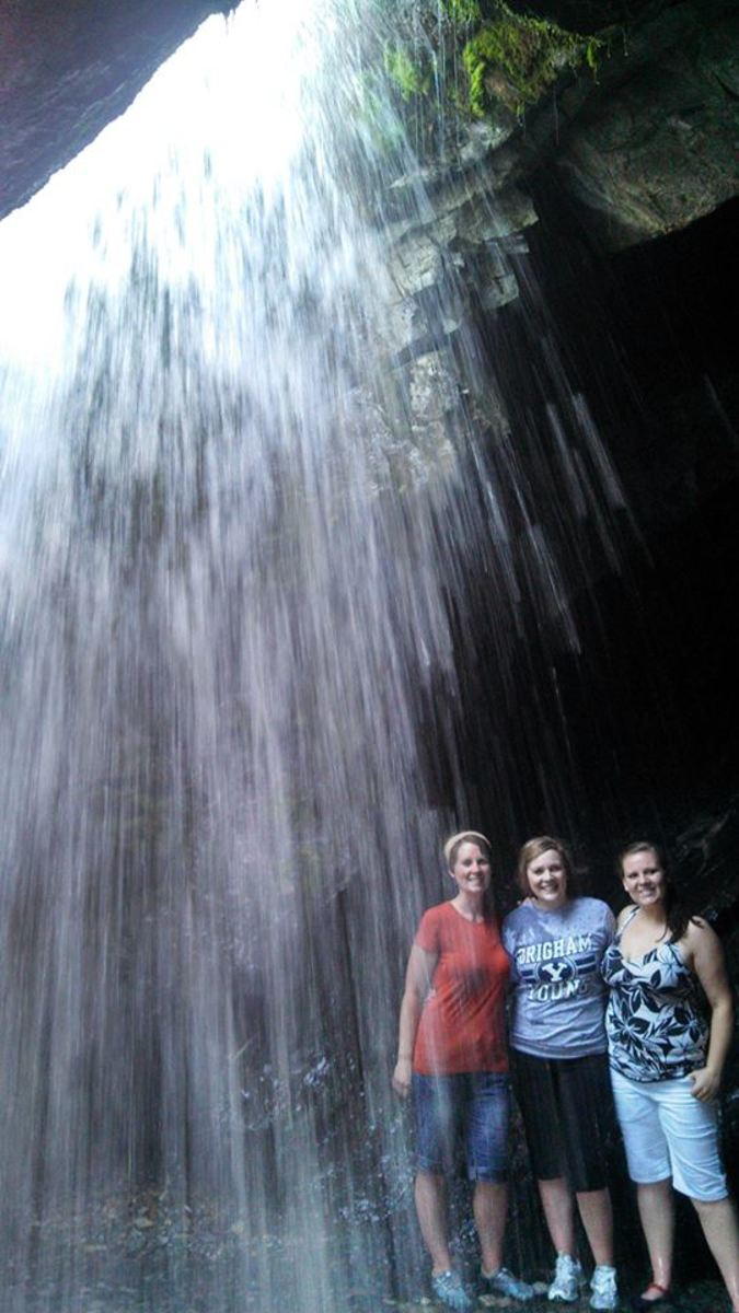 Donut Falls in Big Cottonwood Canyon