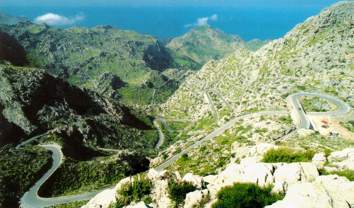 The amazing climb of of Sa Colobra, Majorca