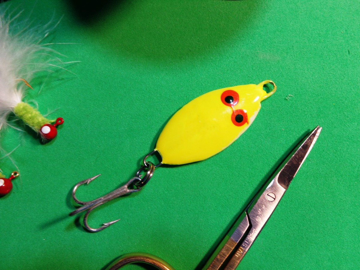 Chartreuse Slab that acts as a weight and a lure!