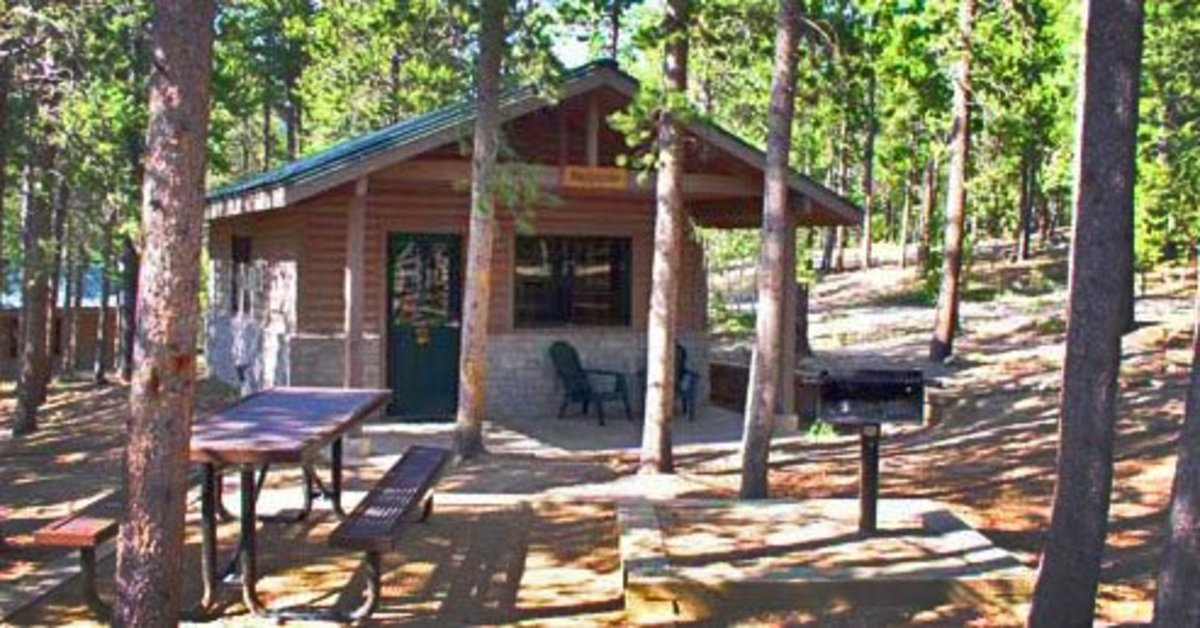 One of the cabins available for rent at Golden Gate Canyon State Park