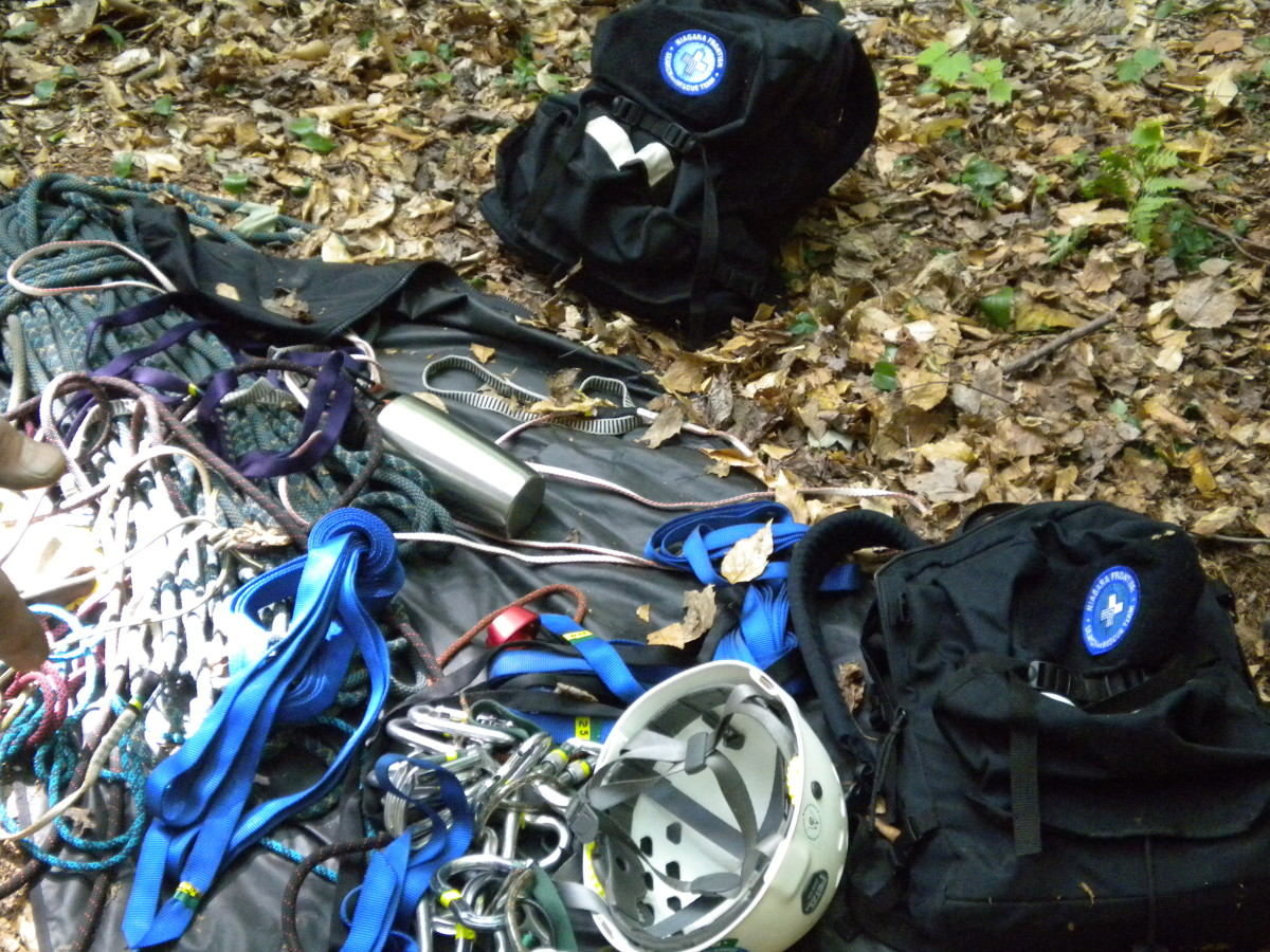 Search and Rescue high-angle equipment is generally team gear.