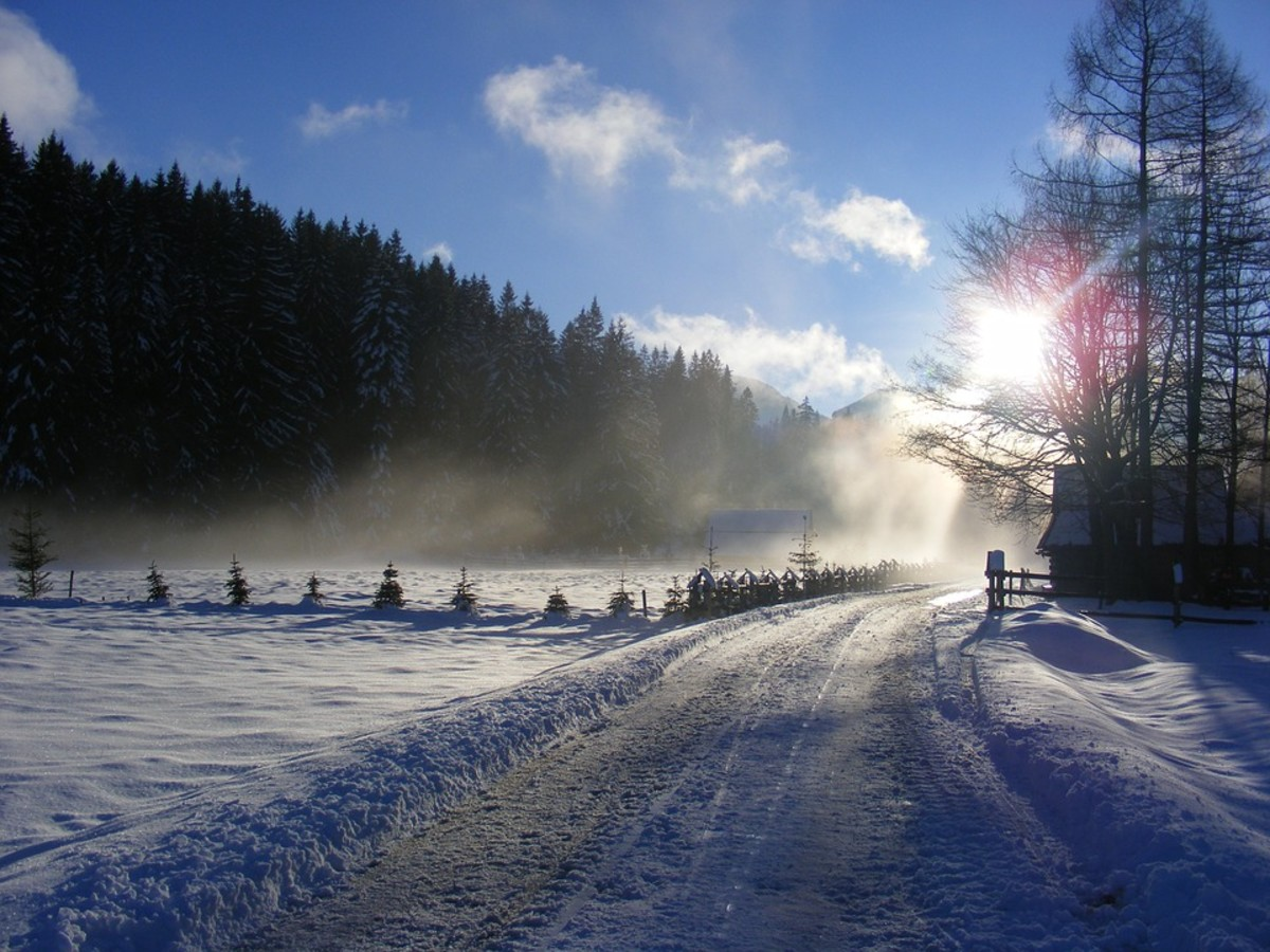 Dolina Chocholowska in winter