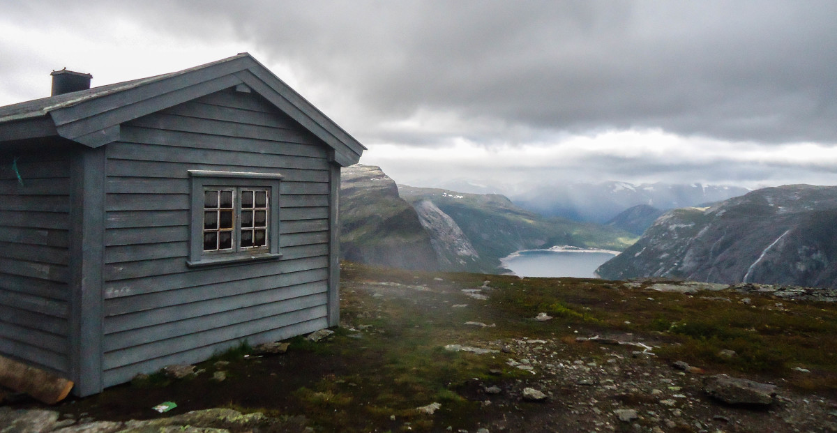 This rescue hut is just beyond Trolltunga. Make use of it if you run into difficulties.