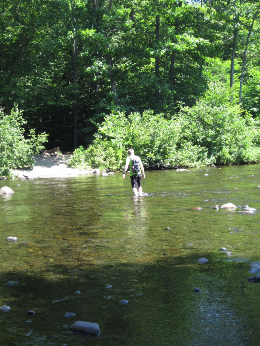 Fording the West Branch of the Pleasant River