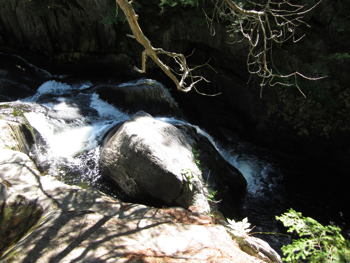 Screw Auger Falls, from above. Gulf Hagas Brook