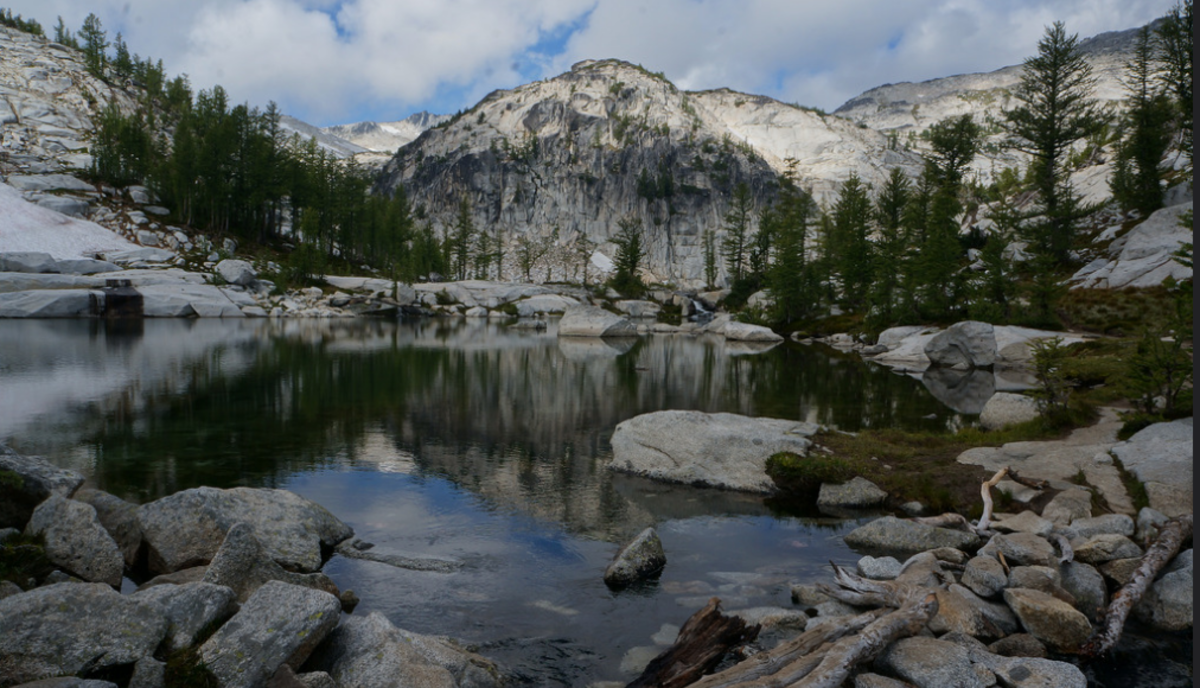 Inspiration Lake, The Enchantments. The fish here are generally small, but the scenery more than makes up for it.