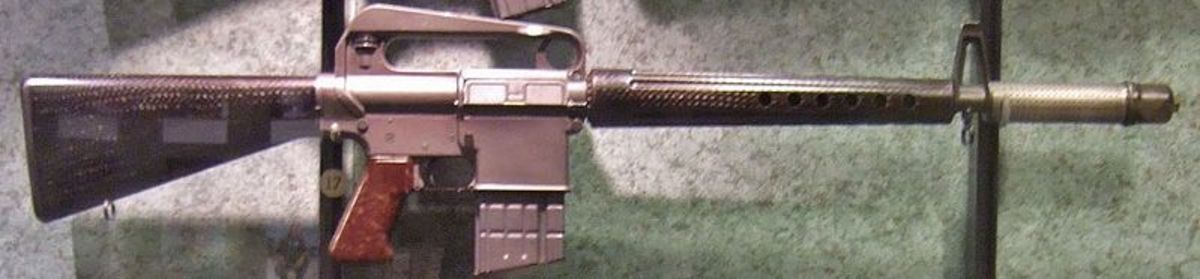 Early AR-10 Rifle chambered in 7.62mm NATO.