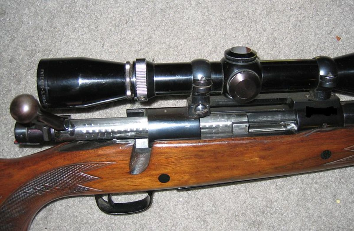 Bolt-action rifle with action open