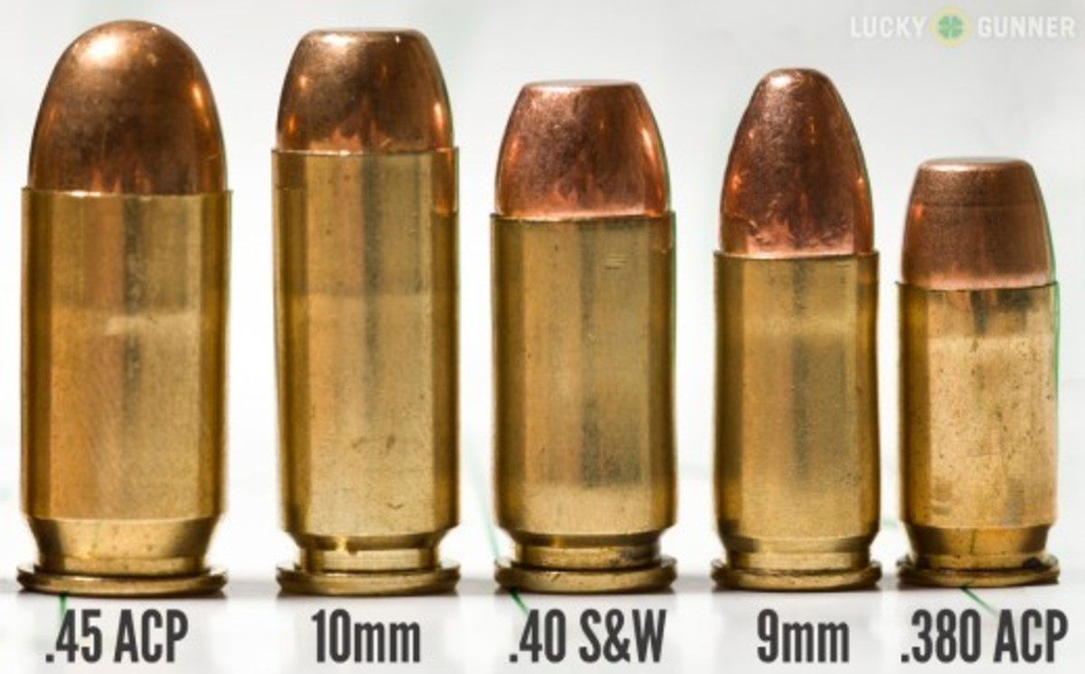 Popular concealed handgun cartridges