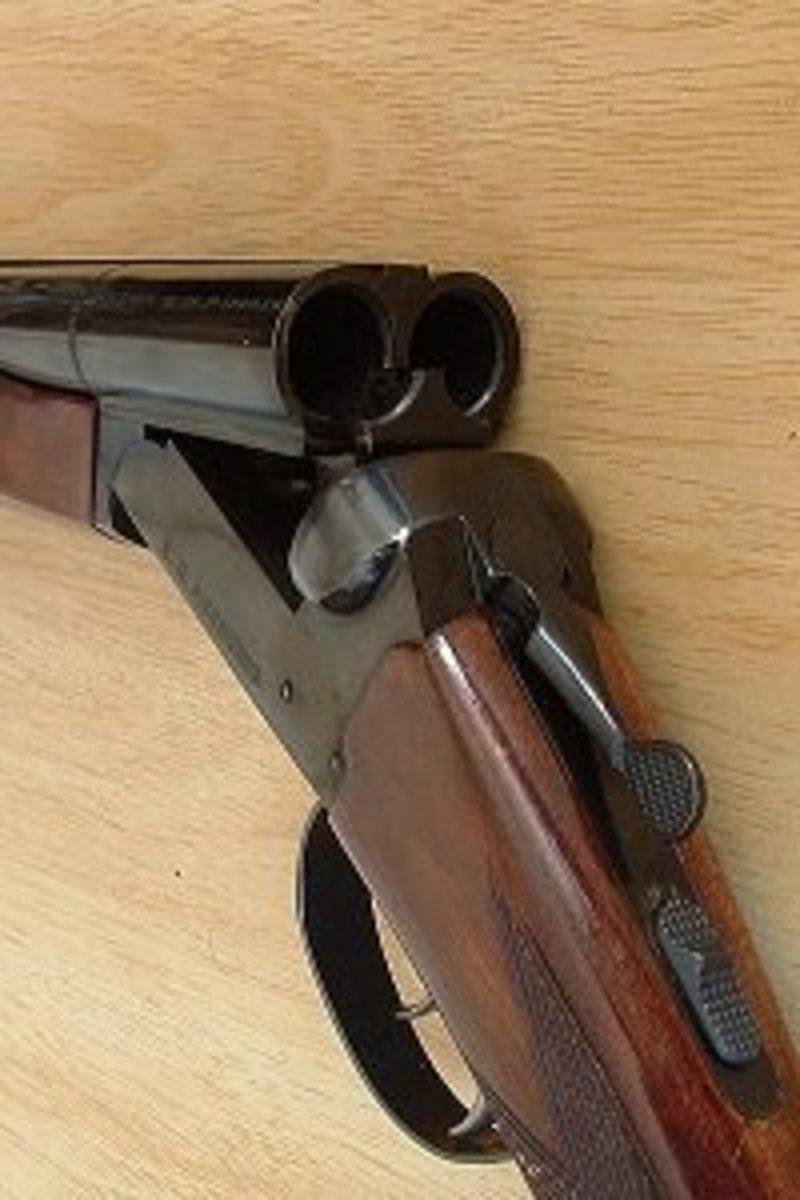 A Break-Action 12 Gauge Shotgun