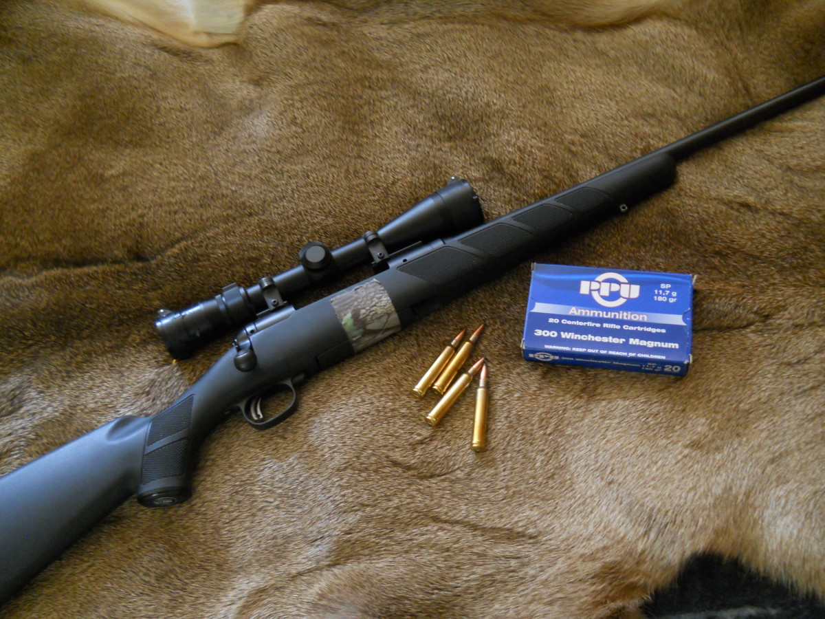 A mid-weight rifle, such as this 8.0 pound with scope Savage 111 in .300 Win. Mag., makes a great all-round choice for any Montana hunting.