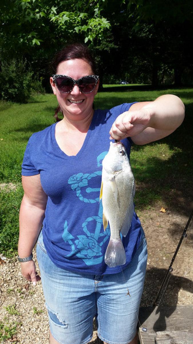 A common carp caught at Johnson-Sauk Trail State Park, Kewanee, IL