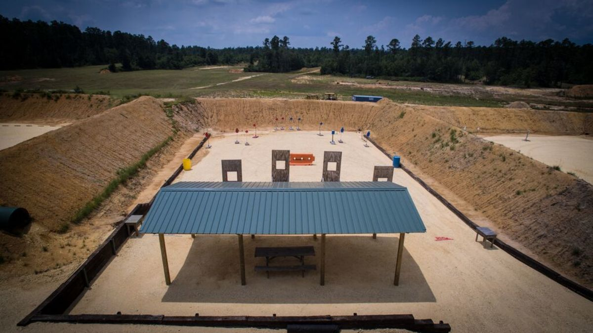 Covered shooting position and full berm enclosure