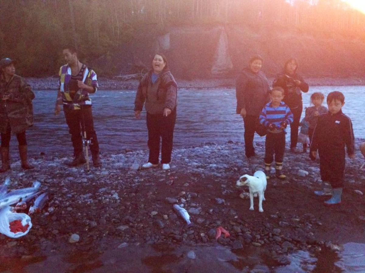 Family on the Skeena River