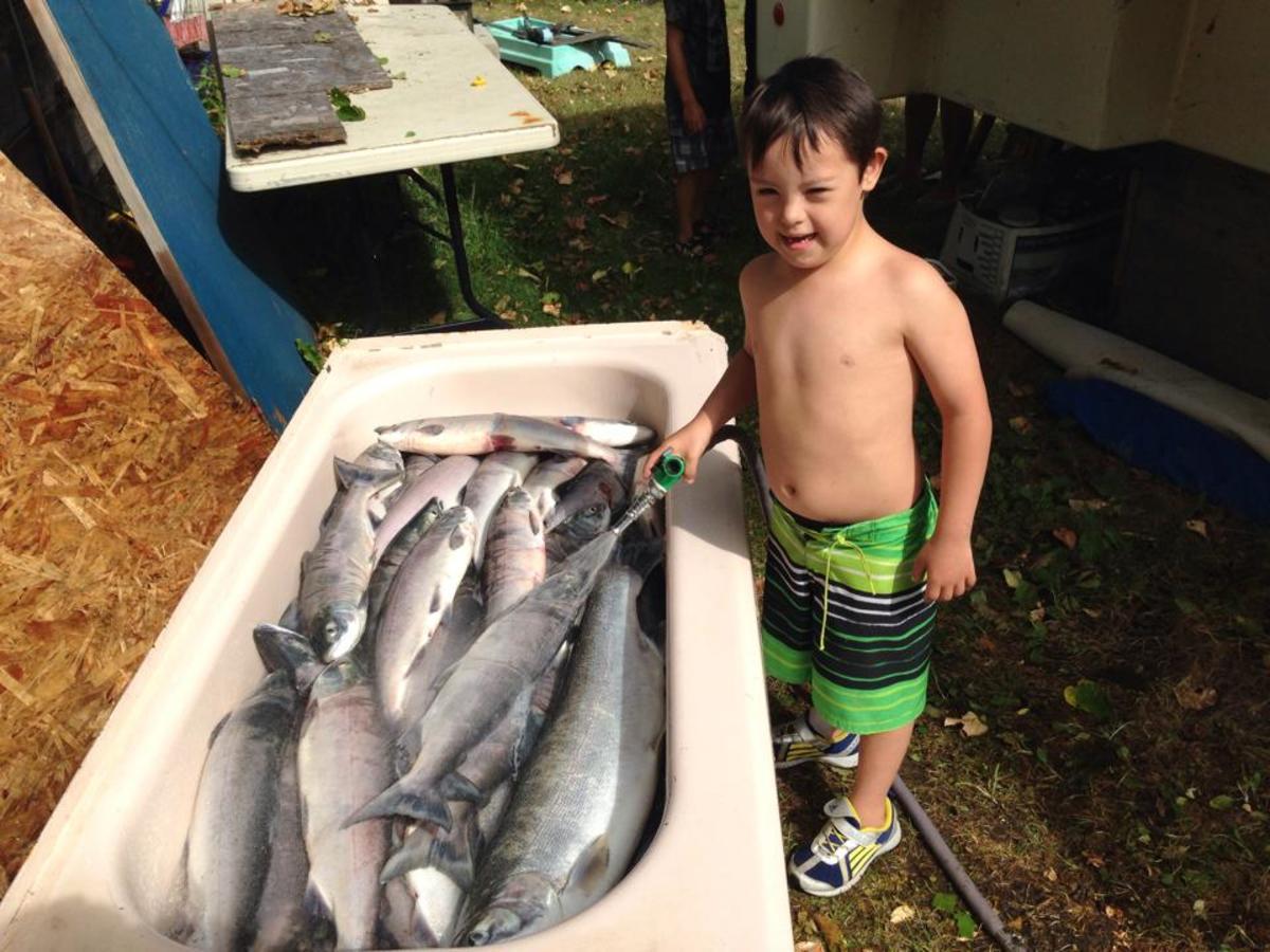 Jonah washing the fish