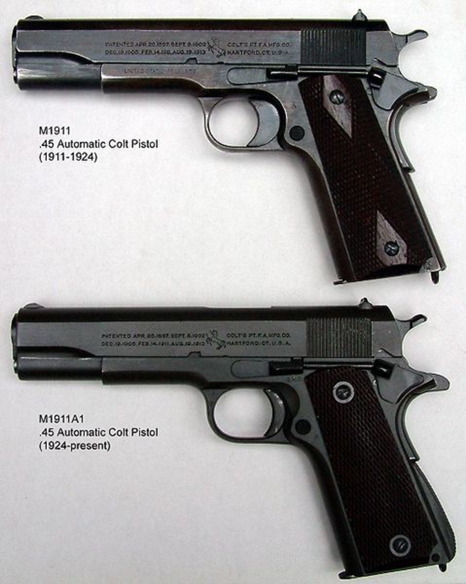 Upper - M1911 Lower - M1911A1