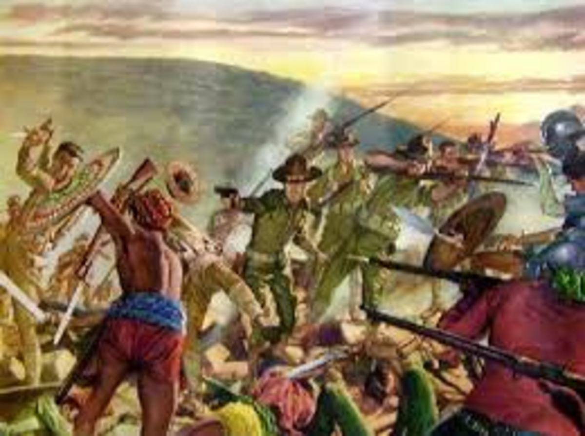 Painting of the battle of Bud Bagask