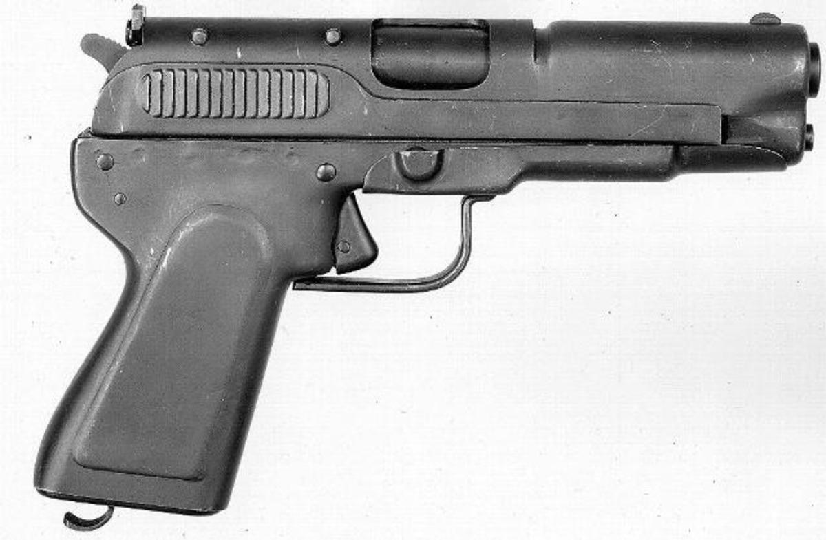 A example of a stamped Springfield 45 pistol