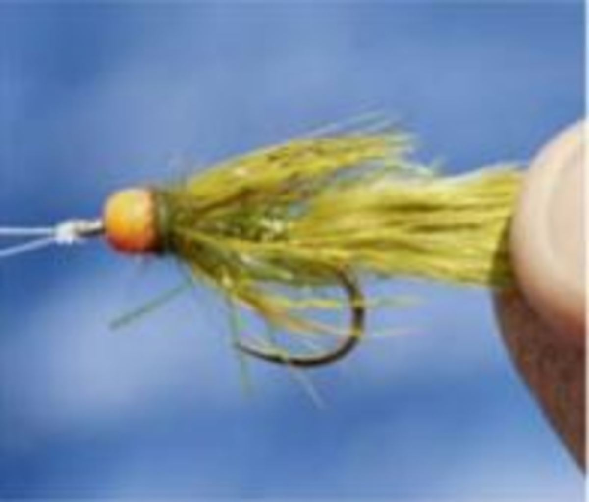 Choose a weighted fly with a marabou tail