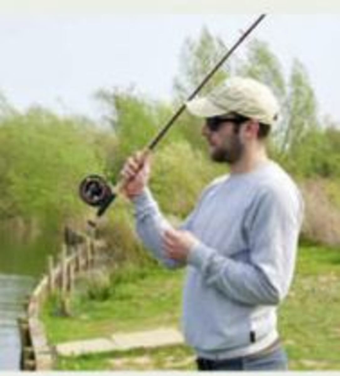 To simply put fly-line out in front on the water the rod is raised sharpish to the one o'clock position.