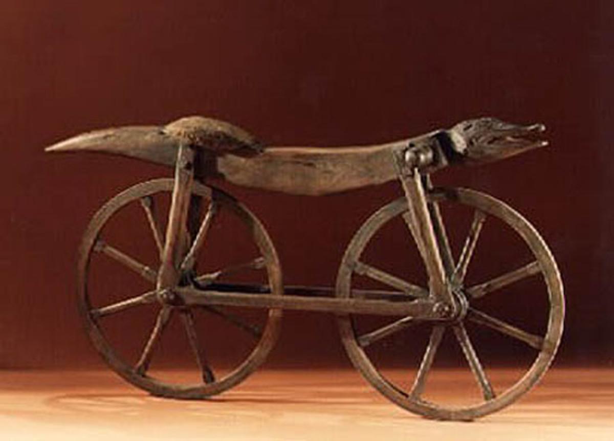 """A design similar to Comte de Sivrac's 1791 """"velocipede"""""""
