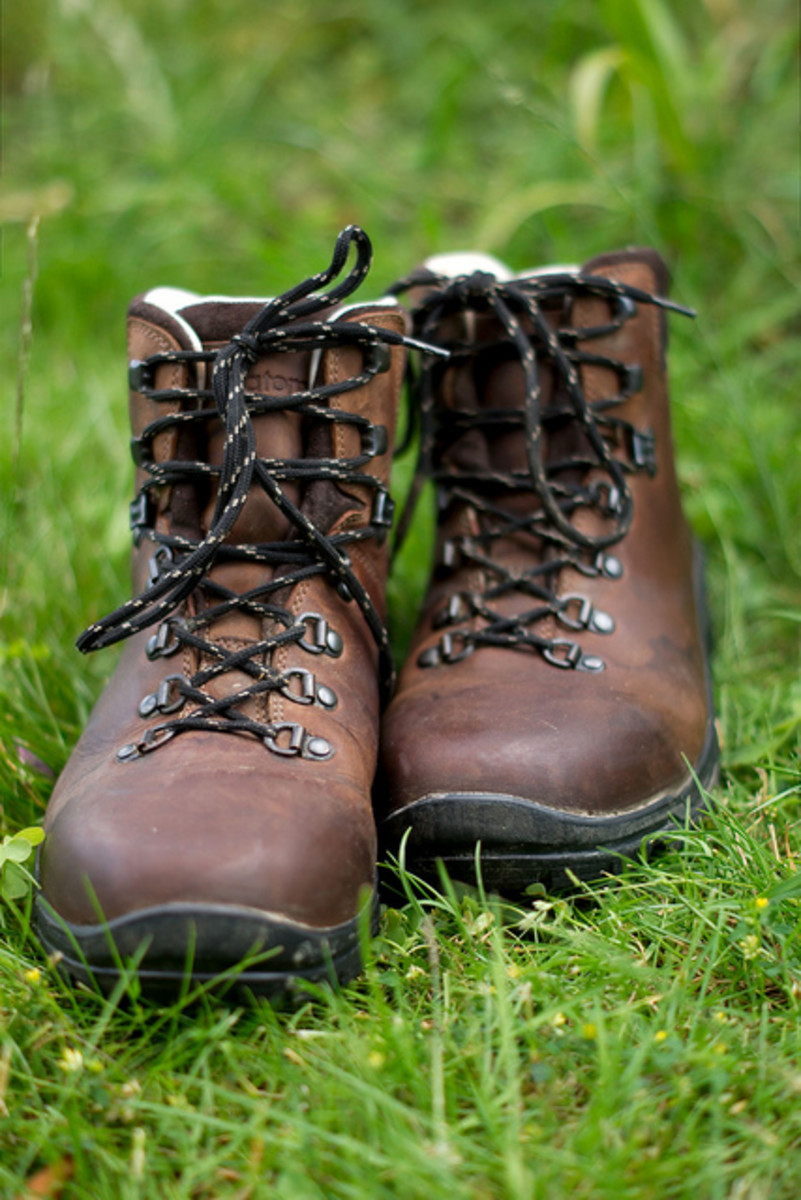 A good pair of hiking boots will keep your footing solid and your ankles safe