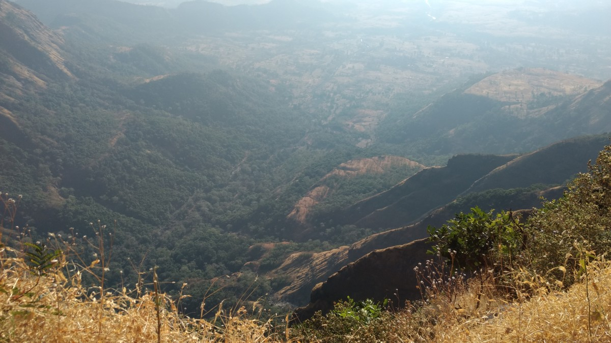 Panoramic view of Sahyadri region