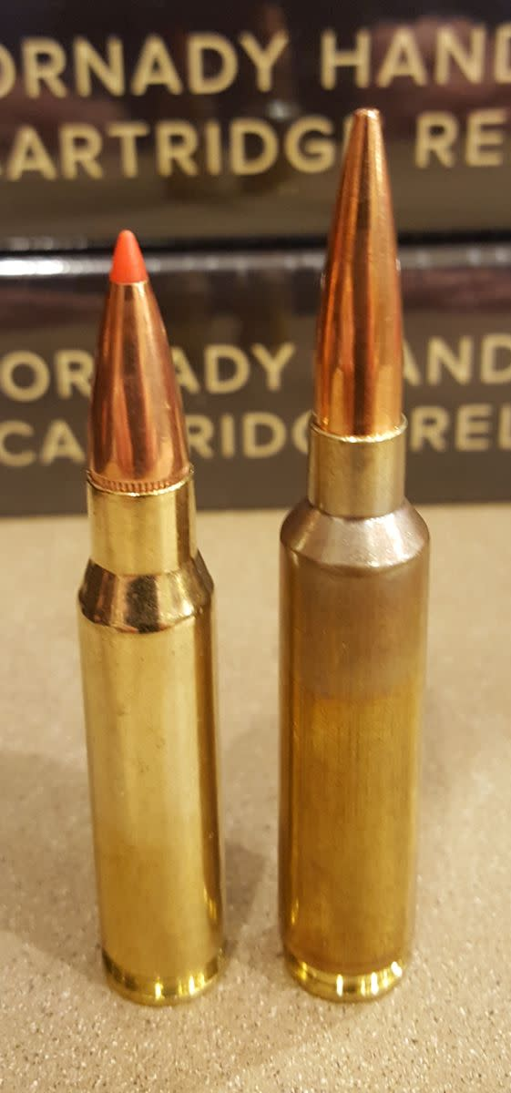 .308 Winchester (L), 6.5-284 Norma (R)