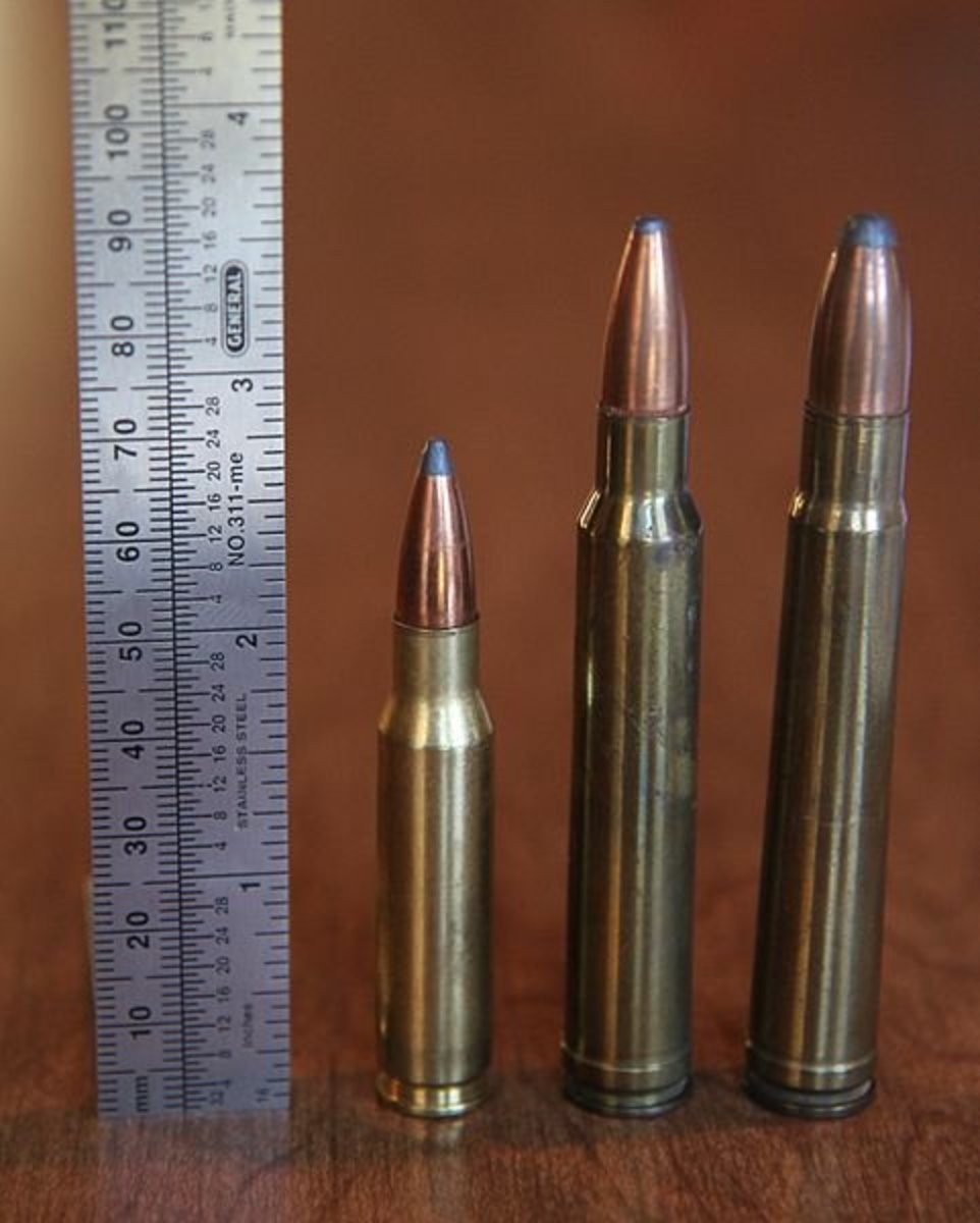(L-R): .308 Winchester, 8mm Rem Mag, .375 H&H Mag