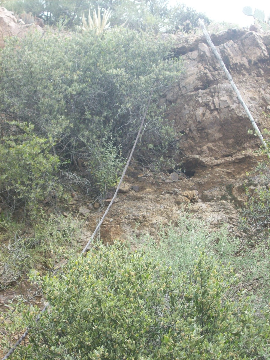 The cable spanned the gorge.