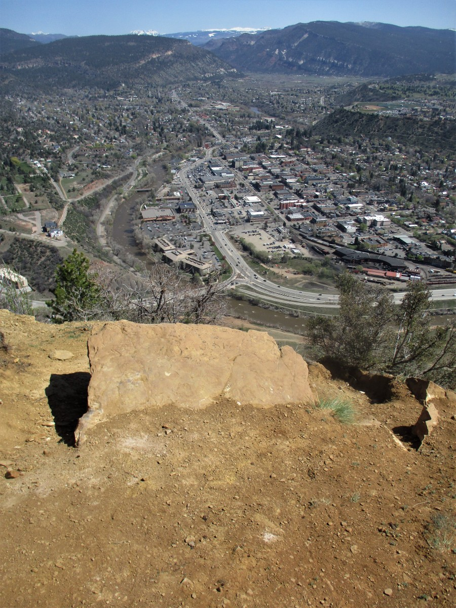 From the summit of Smelter Mountain, the ambitious hiker can look right down into Durango, Colorado.