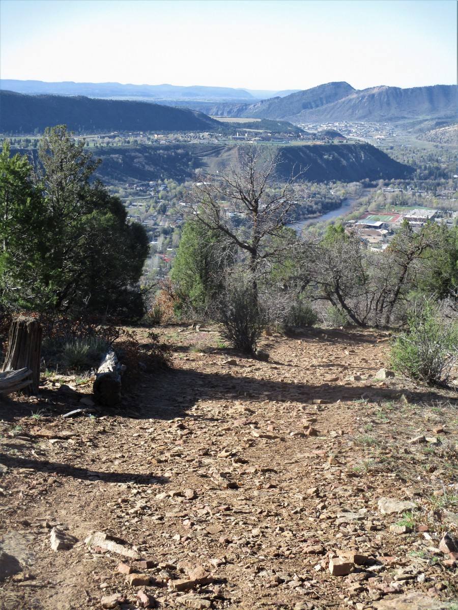 View of Durango from the Animas Mountain trail, photo by author