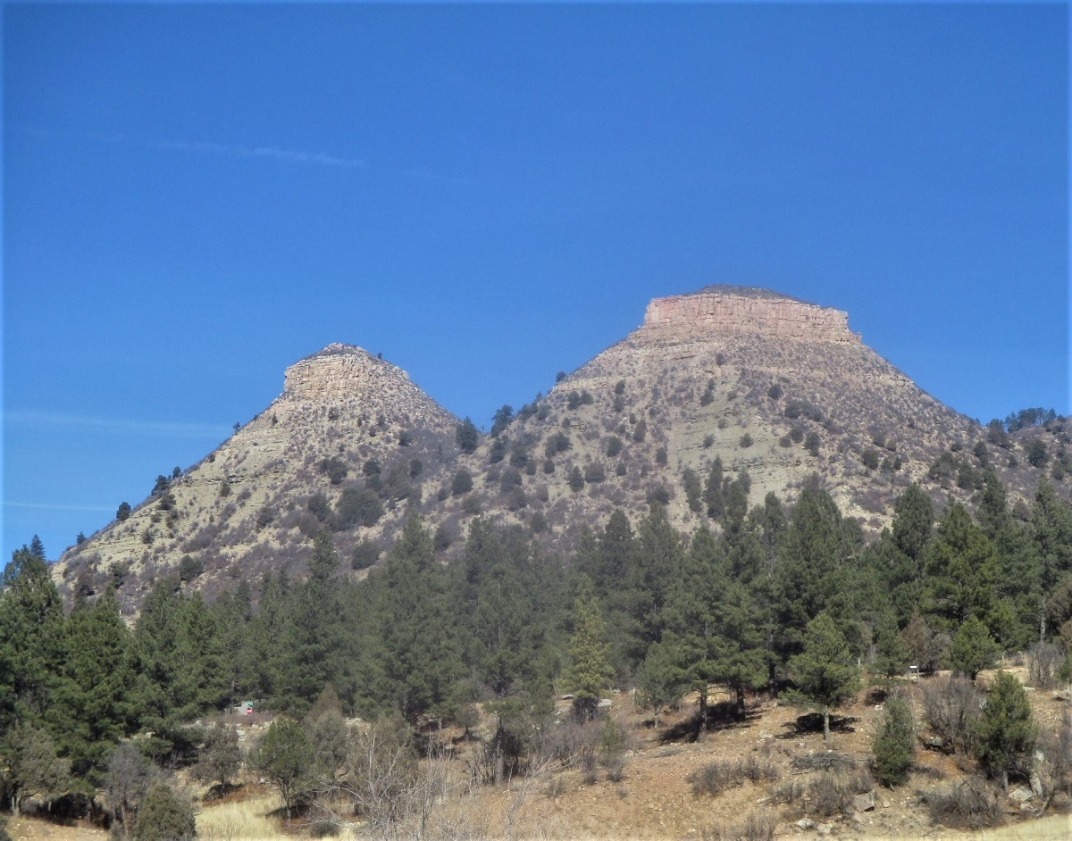 Twin Buttes is a natural formation located just a few miles west of Durango, just north of Highway 160